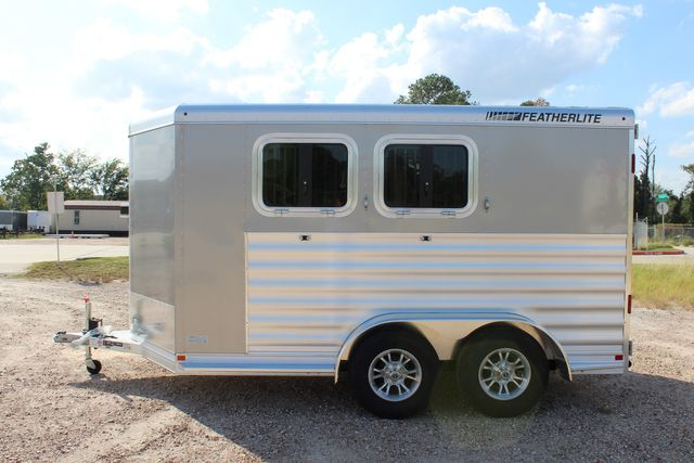 "2020 Featherlite 7441 - 2 HORSE TWO HORSE - BUMPER PULL - 24"" DRESSING ROOM - 7' W CONROE, TX 8"
