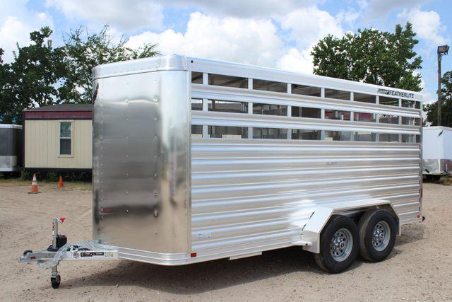 2020 Featherlite 8107 16' BUMPER PULL LIVESTOCK TRAILER CONROE, TX 7