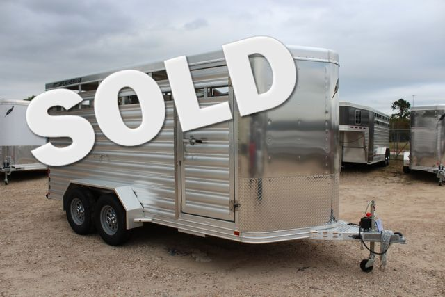 2020 Featherlite 8107 16' - LIVESTOCK - CATTLE TRAILER - ALUMINUM FLOOR CONROE, TX