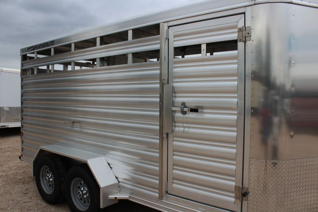 2020 Featherlite 8107 16' - LIVESTOCK - CATTLE TRAILER - ALUMINUM FLOOR CONROE, TX 1