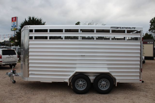 2020 Featherlite 8107 16' - LIVESTOCK - CATTLE TRAILER - ALUMINUM FLOOR CONROE, TX 10