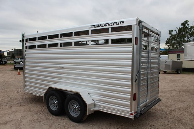 2020 Featherlite 8107 16' - LIVESTOCK - CATTLE TRAILER - ALUMINUM FLOOR CONROE, TX 11