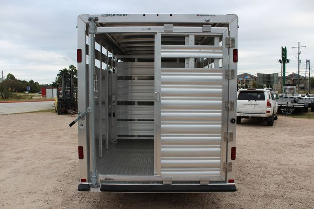 2020 Featherlite 8107 16' - LIVESTOCK - CATTLE TRAILER - ALUMINUM FLOOR CONROE, TX 13