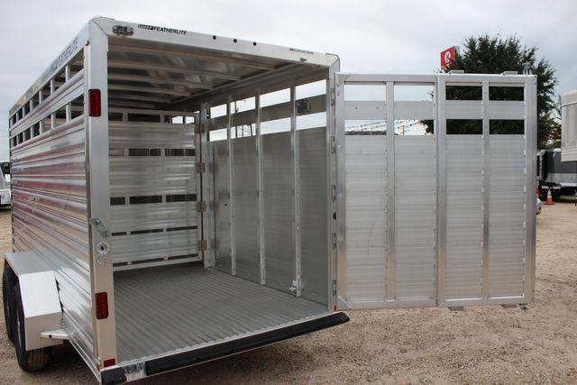 2020 Featherlite 8107 16' - LIVESTOCK - CATTLE TRAILER - ALUMINUM FLOOR CONROE, TX 14