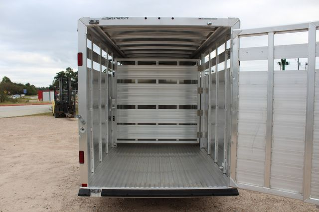 2020 Featherlite 8107 16' - LIVESTOCK - CATTLE TRAILER - ALUMINUM FLOOR CONROE, TX 15