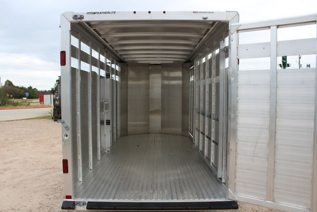 2020 Featherlite 8107 16' - LIVESTOCK - CATTLE TRAILER - ALUMINUM FLOOR CONROE, TX 17
