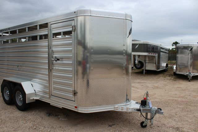 2020 Featherlite 8107 16' - LIVESTOCK - CATTLE TRAILER - ALUMINUM FLOOR CONROE, TX 2