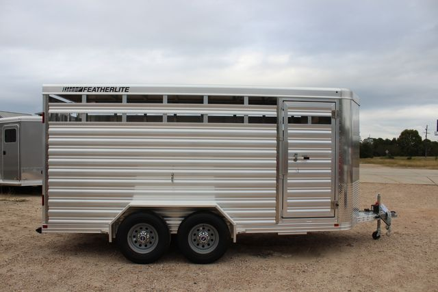 2020 Featherlite 8107 16' - LIVESTOCK - CATTLE TRAILER - ALUMINUM FLOOR CONROE, TX 20