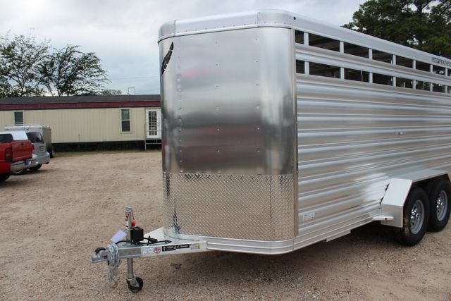 2020 Featherlite 8107 16' - LIVESTOCK - CATTLE TRAILER - ALUMINUM FLOOR CONROE, TX 7