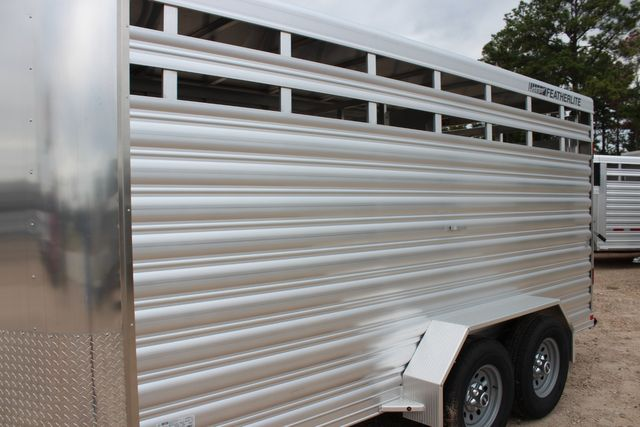 2020 Featherlite 8107 16' - LIVESTOCK - CATTLE TRAILER - ALUMINUM FLOOR CONROE, TX 8