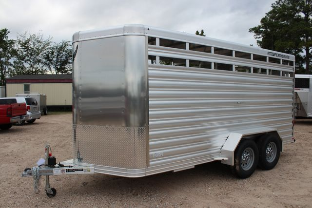 2020 Featherlite 8107 16' - LIVESTOCK - CATTLE TRAILER - ALUMINUM FLOOR CONROE, TX 9