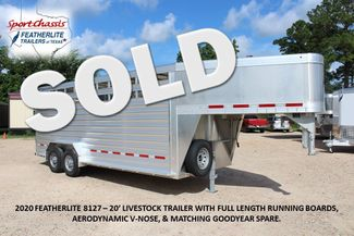 2020 Featherlite 8127 - 20 20' V-NOSE LIVESTOCK TRAILER 7' TALL & 7'WIDE CONROE, TX