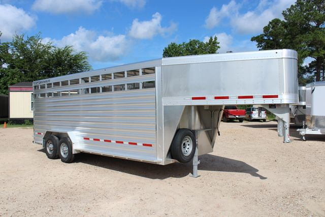 2020 Featherlite 8127 - 20 20' V-NOSE LIVESTOCK TRAILER 7' TALL & 7'WIDE CONROE, TX 29