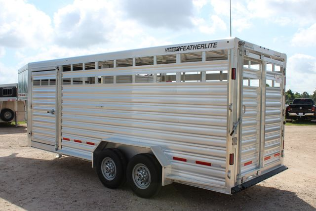 2020 Featherlite 8127 - 20 20' V-NOSE LIVESTOCK TRAILER 7' TALL & 7'WIDE CONROE, TX 11