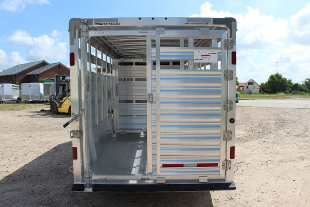 2020 Featherlite 8127 - 20 20' V-NOSE LIVESTOCK TRAILER 7' TALL & 7'WIDE CONROE, TX 15