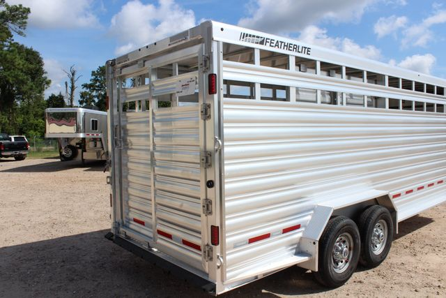 2020 Featherlite 8127 - 20 20' V-NOSE LIVESTOCK TRAILER 7' TALL & 7'WIDE CONROE, TX 25