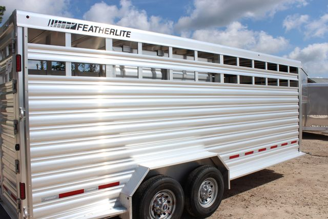 2020 Featherlite 8127 - 20 20' V-NOSE LIVESTOCK TRAILER 7' TALL & 7'WIDE CONROE, TX 26