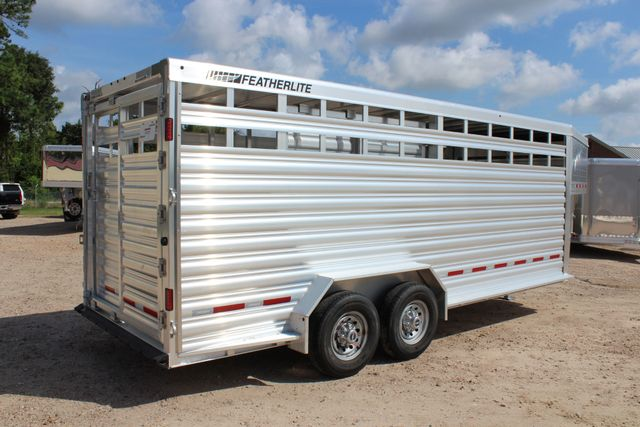2020 Featherlite 8127 - 20 20' V-NOSE LIVESTOCK TRAILER 7' TALL & 7'WIDE CONROE, TX 27