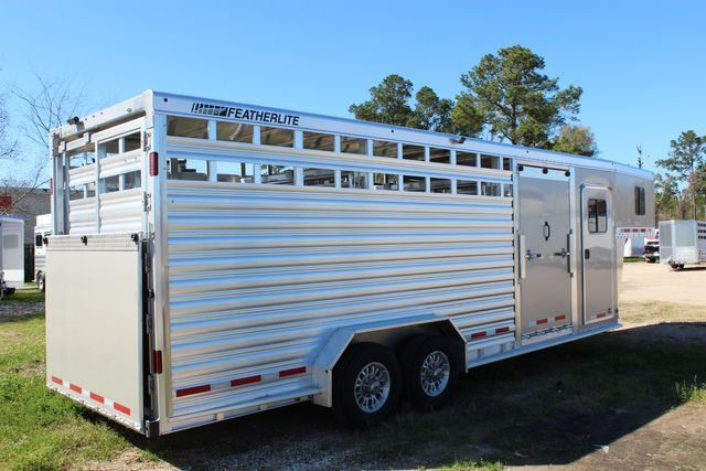 2020 Featherlite 8413 - STOCK COMBO 24' LIVESTOCK COMBO WITH 4' TACK CONROE, TX 23