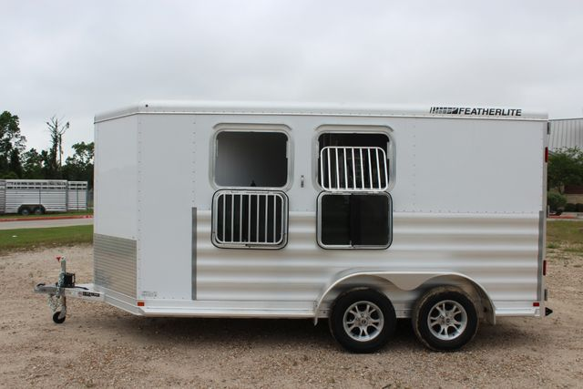 "2020 Featherlite 9409 - 2H 2 horse 7'0""T x 14' 2"" long with 24"" slant wall DR CONROE, TX 8"