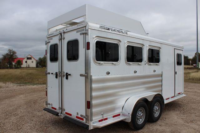 2020 Featherlite 9409 - 3 HORSE 3 HORSE - DRAG - HAY RACK - DROP DOORS ON HIP CONROE, TX 18