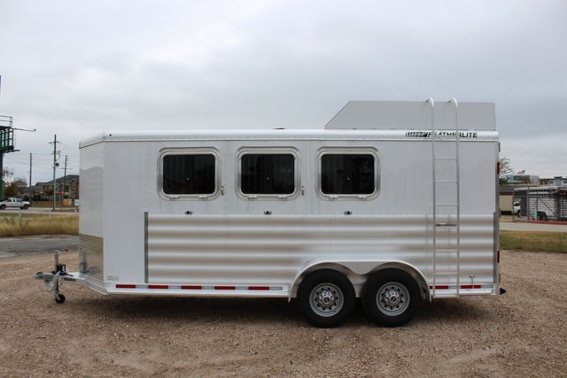2020 Featherlite 9409 - 3 HORSE 3 HORSE - DRAG - HAY RACK - DROP DOORS ON HIP CONROE, TX 9