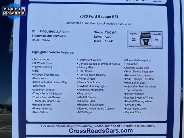 2020 Ford Escape SEL Madison, NC 14