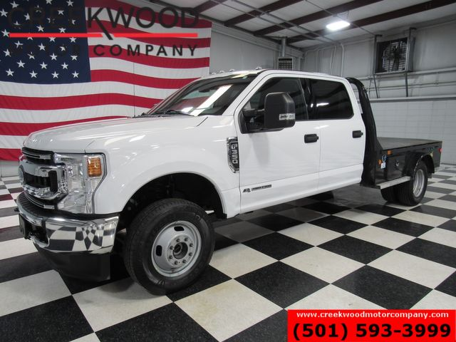 2020 Ford Super Duty F-350 XLT 4x4 Diesel Dually Skirted Flatbed White 1Owner