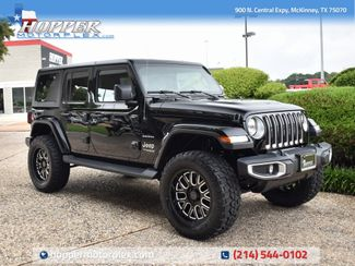 2020 Jeep Wrangler Unlimited Sahara NEW LIFT/CUSTOM WHEELS AND TIRES in McKinney, Texas 75070
