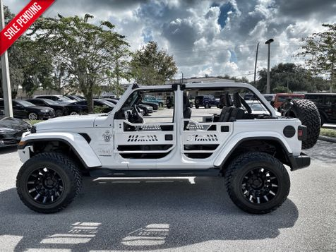 2020 Jeep Wrangler Unlimited WHITE-OUT SAHARA LEATHER HARDTOP NAV ALPINE in Plant City, Florida