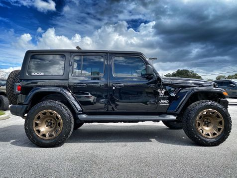 2020 Jeep Wrangler Unlimited BLACK N BROZE SAHARA HARDTOP LEATHER LIFTED in Plant City, Florida