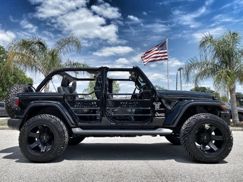 2020 Jeep Wrangler Unlimited BLACKOUT SAHARA HARDTOP LEATHER LIFTED in Plant City, Florida