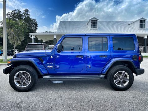 2020 Jeep Wrangler Unlimited OCEAN BLUE TURBO SAHARA NAV ALPINE HARDTOP in Plant City, Florida