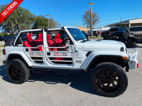 2020 Jeep Wrangler Unlimited WHITE N RED TURBO SAHARA LEATHER NAV FAB FOUR in Plant City, Florida