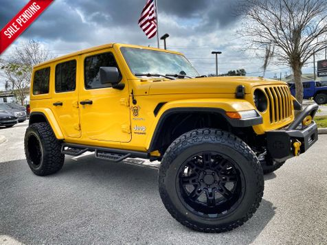 2020 Jeep Wrangler Unlimited HELLA YELLA TURBO SAHARA LEATHER HARDTOP  in Plant City, Florida