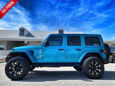 2020 Jeep Wrangler Unlimited BIKINI TURBO SAHARA CUSTOM LIFTED LEATHER in Plant City, Florida
