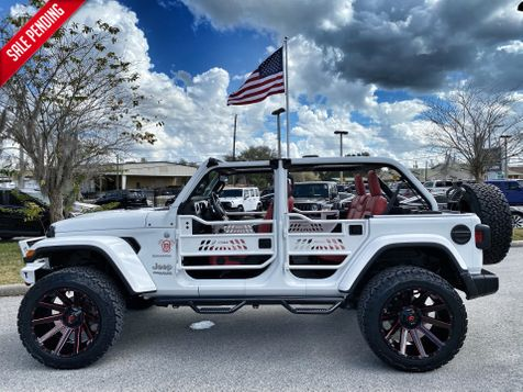 2020 Jeep Wrangler Unlimited CUSTOM LIFTED SAHARA HARDTOP LEATHER in Plant City, Florida