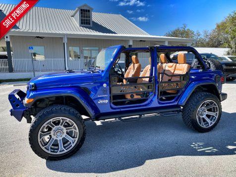 2020 Jeep Wrangler Unlimited OCEAN BLUE CUSTOM LIFTED SAHARA HARDTOP NAV in Plant City, Florida