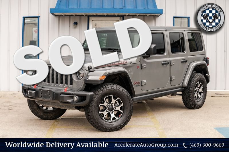 2020 Jeep Wrangler Unlimited RUBICON LEATHER HTD SEATS LED LTS NAV AUTO TRANS! in Rowlett Texas