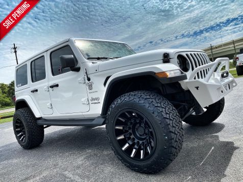 2020 Jeep Wrangler Unlimited SAHARA WHITE-OUT CUSTOM LIFTED LEATHER NAV in Plant City, Florida