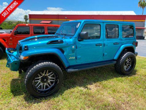 2020 Jeep Wrangler Unlimited BIKINI CUSTOM SAHARA LIFTED HARDTOP NAV ALPINE in Plant City, Florida