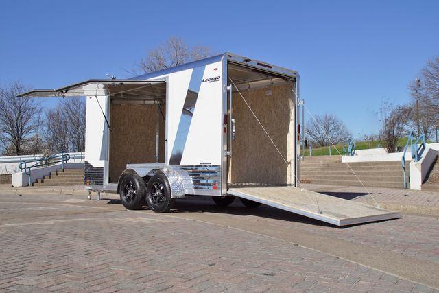 2021 Legend 7' X 17' ALL ALUMINUM DELUXE V-NOSE W/ ESCAPE DOOR in Keller, TX 76111