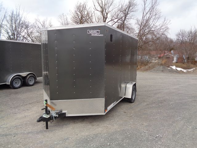 "2020 Look Trailers 7 x 12 ST Cargo Deluxe 12"" Extra Height Ramp Door Tie Downs in Brockport, NY 14420"