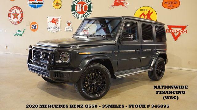 2020 Mercedes-Benz G 550 MSRP 151K,MATTE,ROOF,NAV,HTD LTH,20'S,21 MILES