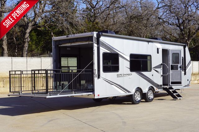 2021 Atc Game Changer 2816 Front Bedroom Model W/ Patio Railing Gen Prep and Dual Batteries