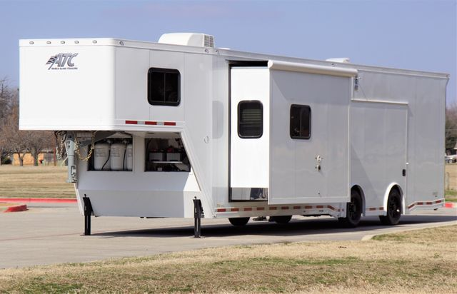 2021 Atc 8.5' X 42' ATC WHITEOUT CAR HAULER W/ 13' CUSTOM LIVING QUARTERS