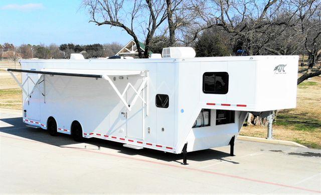 2021 Atc 8.5' X 42' ATC WHITEOUT CAR HAULER W/ 13' CUSTOM LIVING QUARTERS in Keller, TX 76111