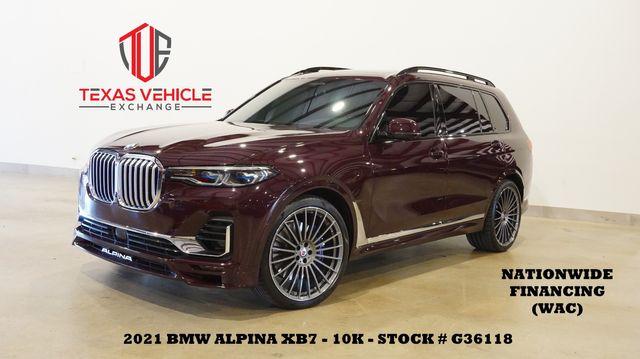 2021 BMW ALPINA XB7 HUD,PANO ROOF,360 CAM,HTD/COOL LTH,23'S,10K