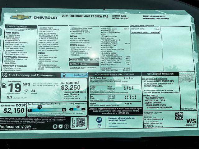 2021 Chevrolet Colorado 4WD LT Madison, NC 11