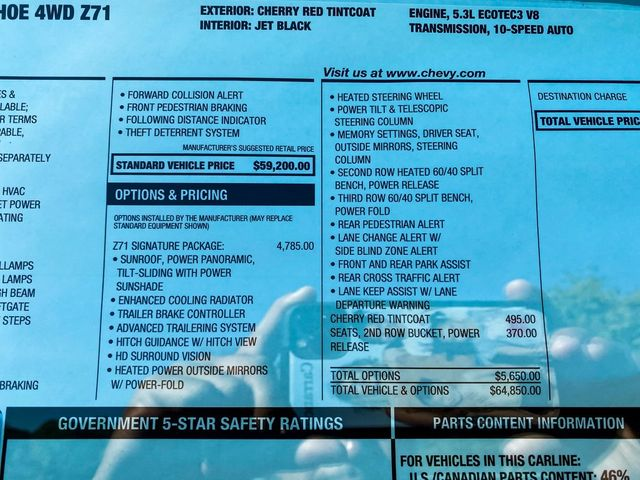 2021 Chevrolet Tahoe Z71 Madison, NC 14